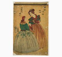 Kuniaki Hirasawa - Dutch Ladies - 1861 - Woodcut One Piece - Short Sleeve