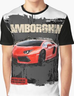 NEW Men's Lamborghini Sports Car T-Shirt Graphic T-Shirt