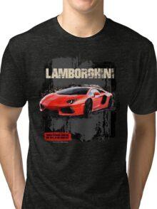 NEW Men's Lamborghini Sports Car T-Shirt Tri-blend T-Shirt