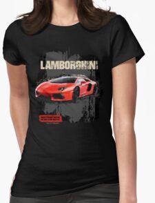 NEW Men's Lamborghini Sports Car T-Shirt Womens Fitted T-Shirt