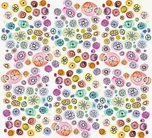 Original Watercolor Illustration - Color Chaos by Tess Johnson