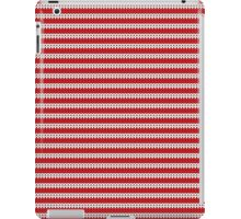 White & Red Knitted iPad Case/Skin