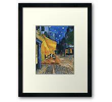 Vincent Van Gogh -Cafe Terrace at Night .Van Gogh -Cafe Terrace at Night Framed Print