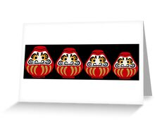 Daruma russian nesting doll style Greeting Card