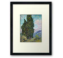 Vincent Van Gogh - Cypresses .  Van Gogh - Cypresses  Framed Print