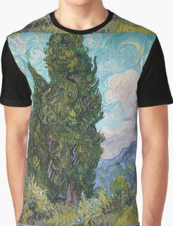 Vincent Van Gogh - Cypresses .  Van Gogh - Cypresses  Graphic T-Shirt