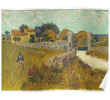 Vincent Van Gogh - Farmhouse In Provence. Van Gogh -French  Landscape  Poster
