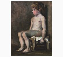 1886-Vincent van Gogh-Nude girl, seated One Piece - Long Sleeve