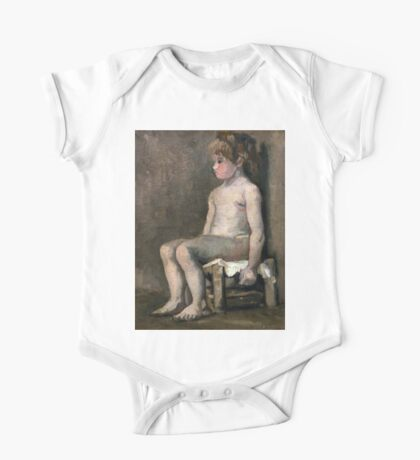 1886-Vincent van Gogh-Nude girl, seated One Piece - Short Sleeve