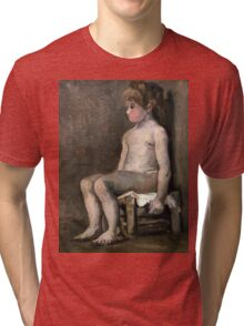 1886-Vincent van Gogh-Nude girl, seated Tri-blend T-Shirt