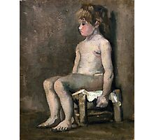 1886-Vincent van Gogh-Nude girl, seated Photographic Print