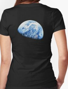 EARTH, PLANET, SPACE, Blue planet, Earthrise, Apollo 8, 1968 Womens Fitted T-Shirt