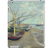 Vincent Van Gogh - Fishing Boats On The Beach At Les Saintes-Maries-De-La-Mer . Van Gogh - Seascape iPad Case/Skin