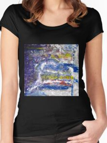 Grand Canyon -spiritual picture, Original Wall Modern Abstract Art Painting Women's Fitted Scoop T-Shirt