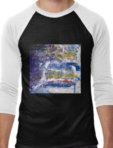 Grand Canyon -spiritual picture, Original Wall Modern Abstract Art Painting Men's Baseball ¾ T-Shirt