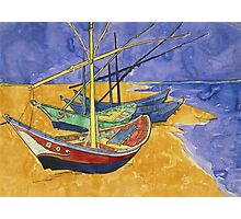 Vincent Van Gogh - Fishing Boats On The Beach Photographic Print