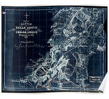 249 Sketch of the battle of Belle Grove or Cedar Creek Wednesday Octr 19th 1864 1 Inverted Poster