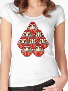 Mount Daruma Women's Fitted Scoop T-Shirt
