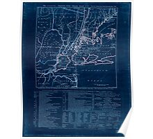 American Revolutionary War Era Maps 1750-1786 924 The Country twenty five miles round New York Inverted Poster
