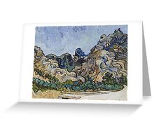 Vincent Van Gogh - French  Landscape. Saint-Remy  Greeting Card