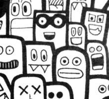 Abundant Faces Sticker