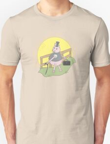 This little piggy went to sell on the markets... Unisex T-Shirt