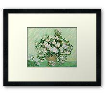 Vincent Van Gogh - Roses - Van Gogh - Roses  Framed Print