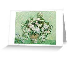 Vincent Van Gogh - Roses - Van Gogh - Roses  Greeting Card