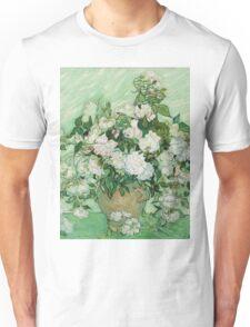 Vincent Van Gogh - Roses - Van Gogh - Roses  Unisex T-Shirt
