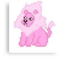 Pixel Gems - Lion Canvas Print