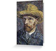 Vincent Van Gogh - Self-Portrait With Straw Hat -Van Gogh - Self-Portrait  Greeting Card