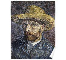 Vincent Van Gogh - Self-Portrait With Straw Hat -Van Gogh - Self-Portrait  Poster