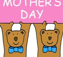 Happy Mother's Day from twin boys. Sticker