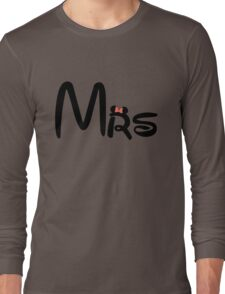 Honeymoon Mr and Mrs T-shirts Long Sleeve T-Shirt