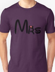 Honeymoon Mr and Mrs T-shirts T-Shirt