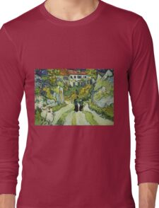 Vincent Van Gogh - Stairway At Auvers  Long Sleeve T-Shirt