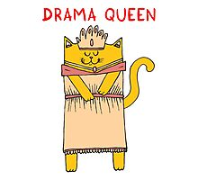 The drama queen Photographic Print