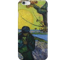 Vincent Van Gogh - The Sower . Sun iPhone Case/Skin
