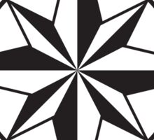 Compass rose - black and white Sticker