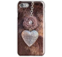 heart necklace iPhone Case/Skin