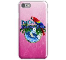 Pink Island Time Surfer iPhone Case/Skin