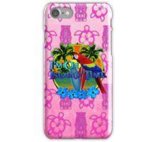 Island Time Pink Tiki iPhone Case/Skin