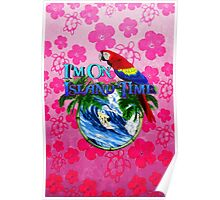 Island Time Surfing Honu Poster