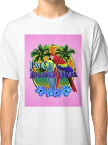 Island Time Surfing Pink Classic T-Shirt