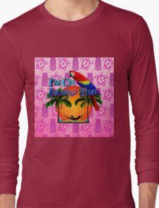 Island Time Pink Tiki Long Sleeve T-Shirt