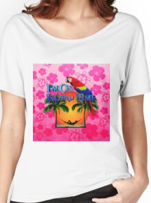 Island Time Pink Honu Women's Relaxed Fit T-Shirt