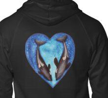 Valentine's Orca's  Zipped Hoodie