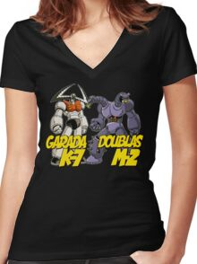 Garada K-7 & Doublas M-2 Mazinger Women's Fitted V-Neck T-Shirt