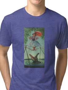 Haunted mansion umbrela Tri-blend T-Shirt