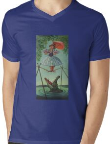 Haunted mansion umbrela Mens V-Neck T-Shirt